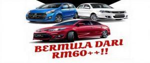 Harga Kereta Sewa Alor Setar Serendah RM60 Sehari