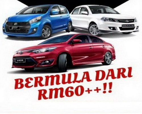 car rental alor setar airport rates starts from RM60 per day
